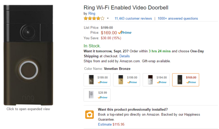 If youu0027re anything like me you donu0027t take kindly to unexpected visitors. The doorbell is a sign that something has gone terribly wrong and I may soon be ...  sc 1 st  Android Police & Deal Alert] Ring video doorbell on sale for $169.99 ($30 off) via Amazon