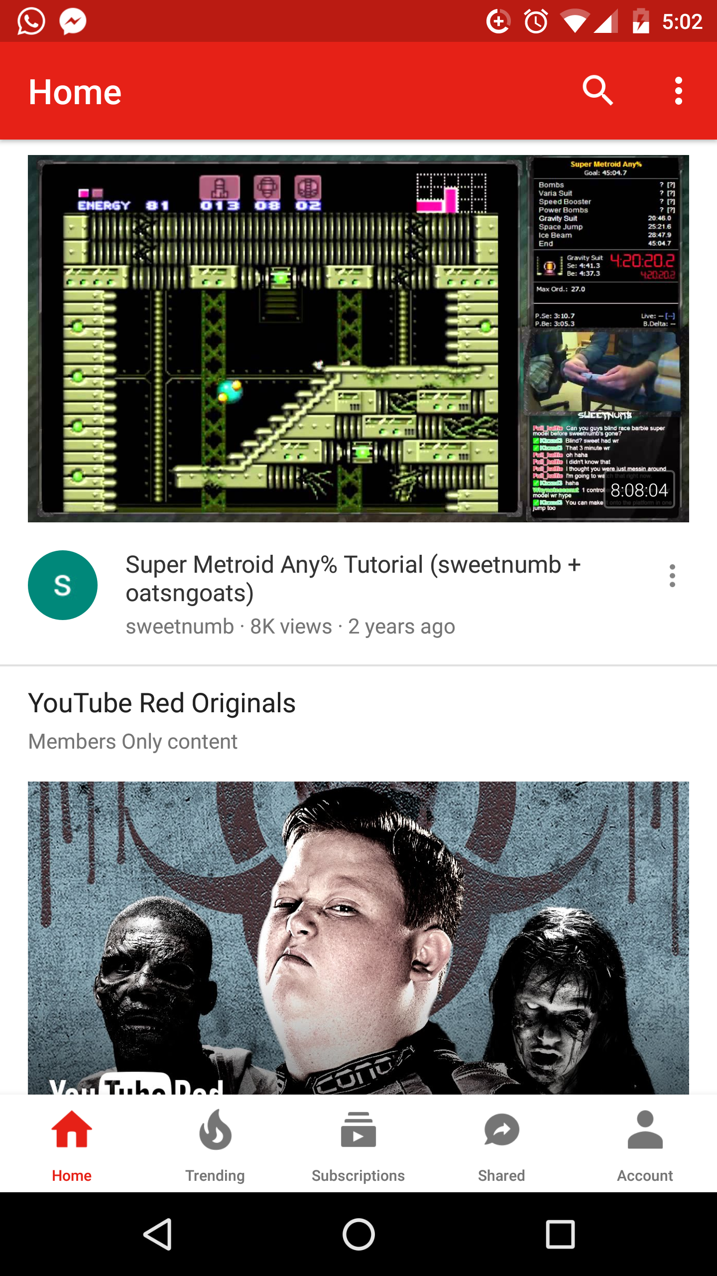 New YouTube UI with navigation bar on bottom rolling out