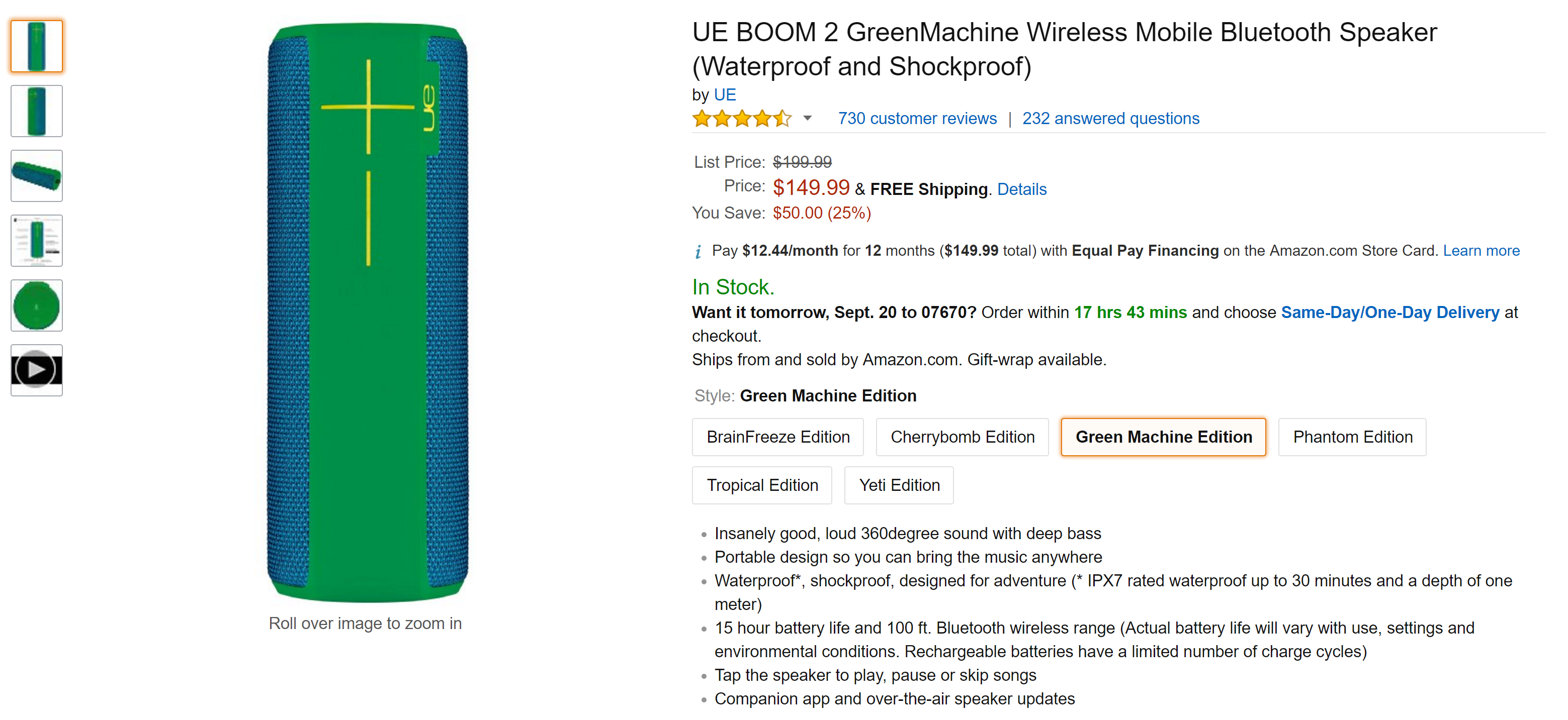 Deal Alert] Get a Logitech UE Boom 2 in any color for just $149 99