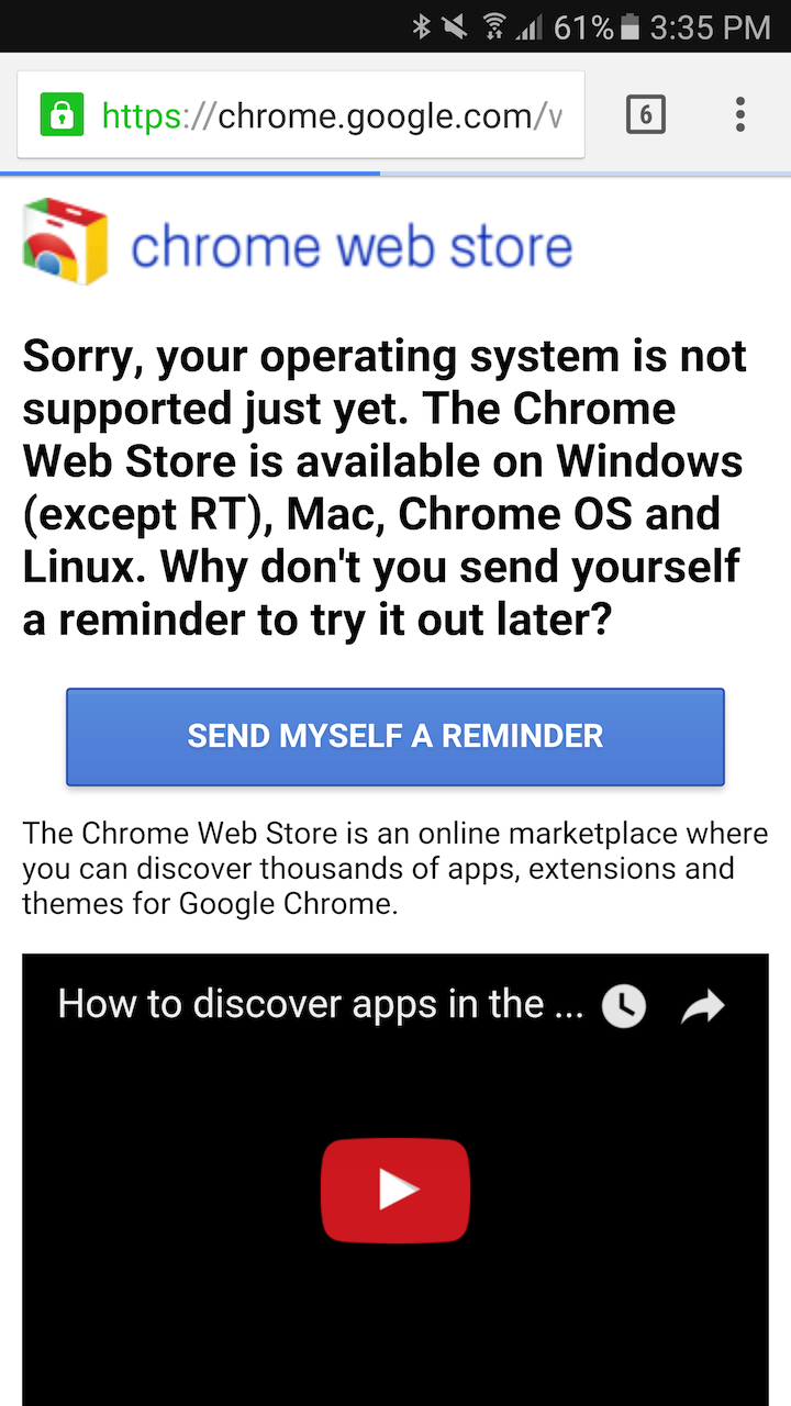 Pretty cool] You can now add Chrome extensions from your