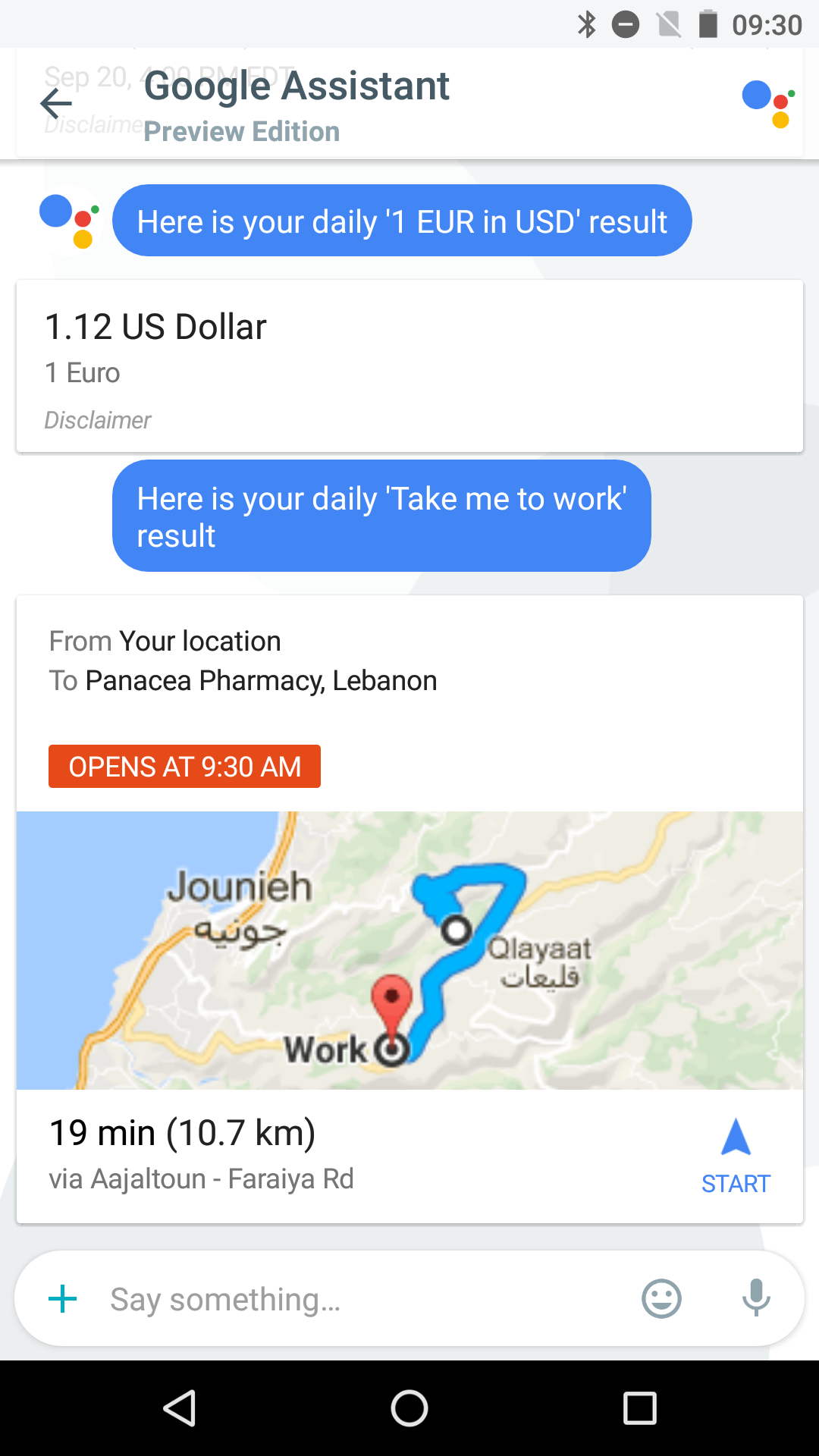 how to add currency card to google now