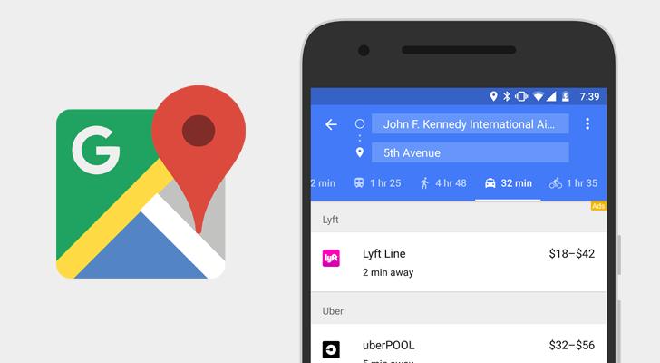 googlemaps-ridesharing