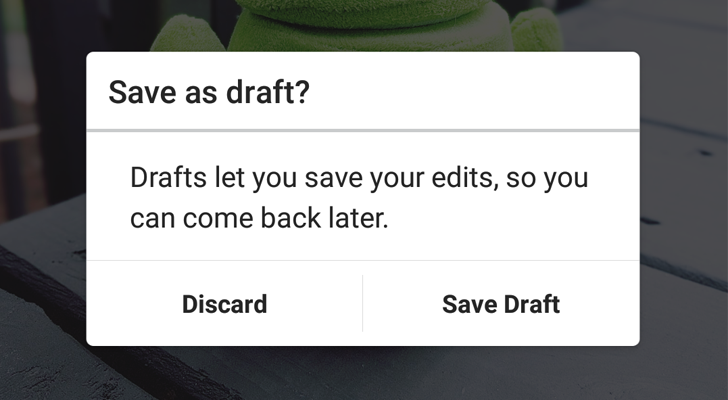 Instagram 9 4 adds the ability to save posts as drafts for