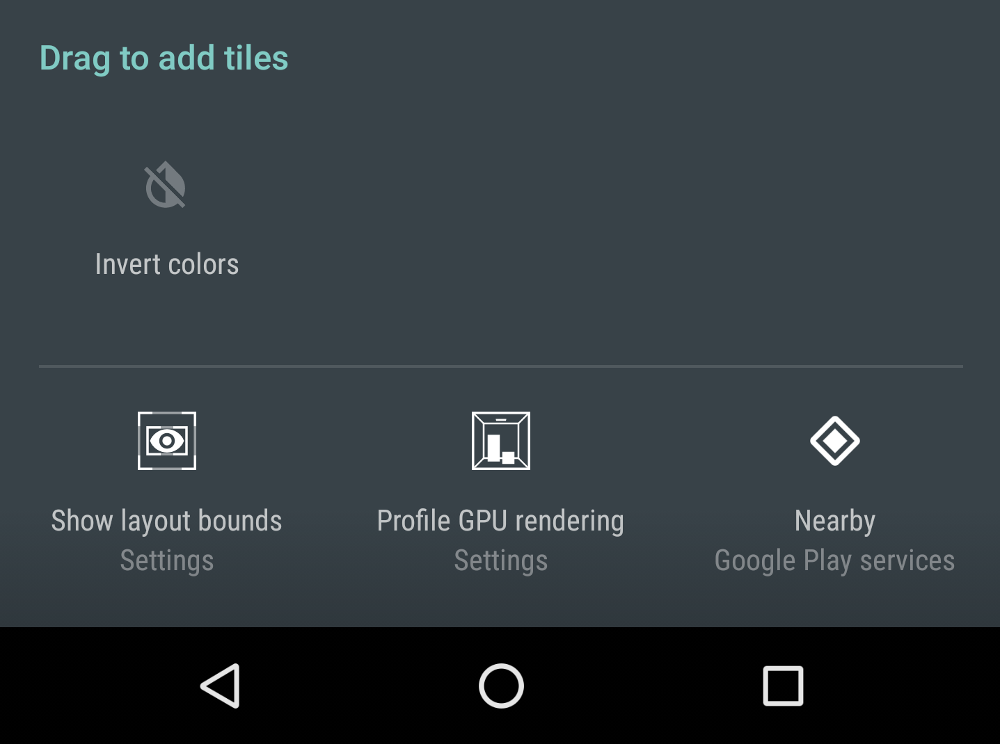 Google Play Services v9 6 adds Nearby quick settings tile
