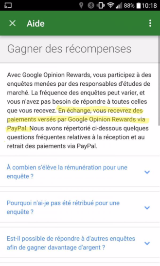 update rewards through paypal google opinion rewards now available in france. Black Bedroom Furniture Sets. Home Design Ideas