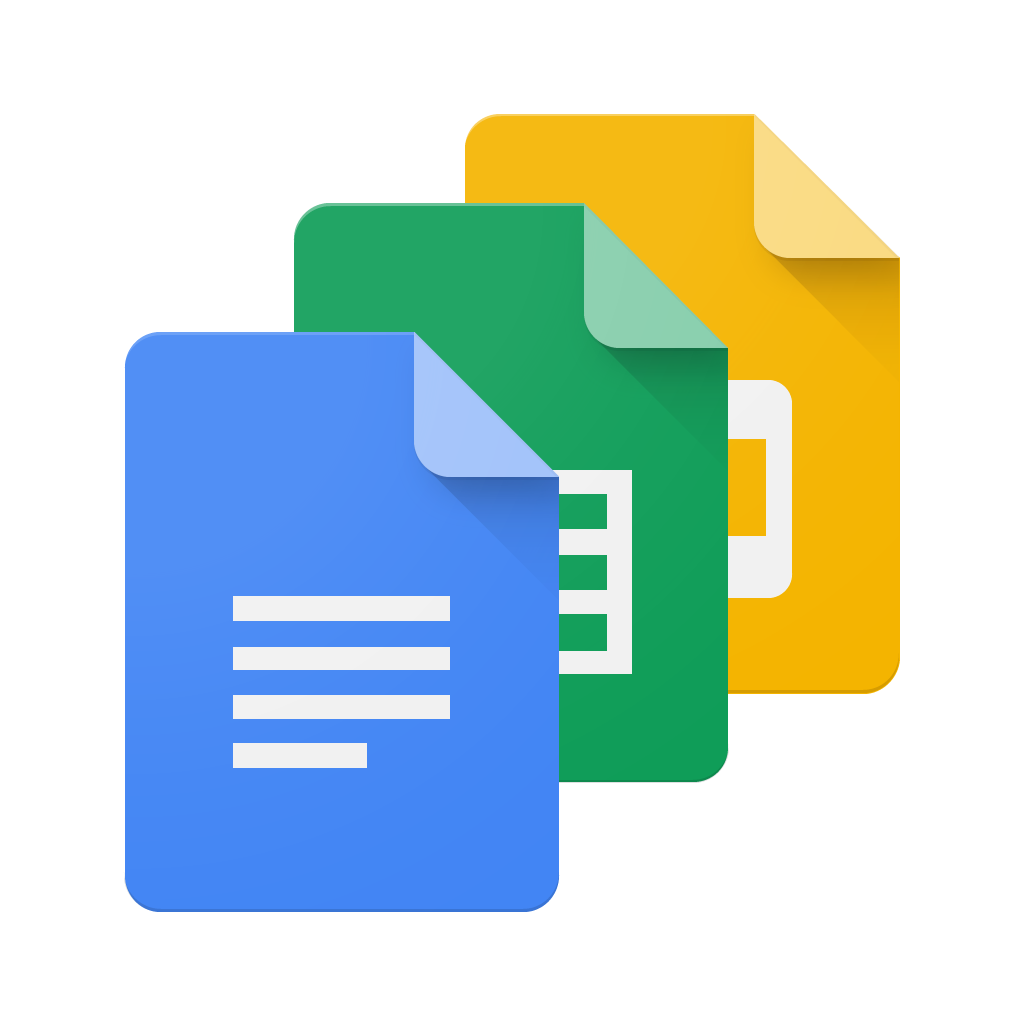 the latest versions of google docs sheets and slides allow you to
