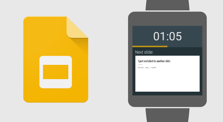 google slides now supports using android wear to control