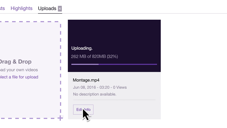 RIP YouTube Gaming] Twitch now supports video uploading through
