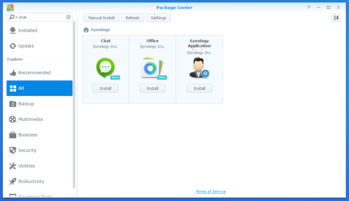 Synology Chat is an instant messaging application that runs