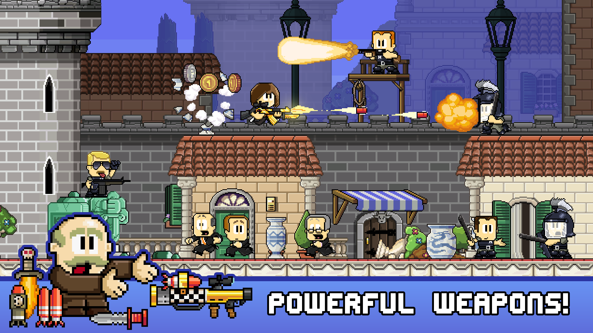 Dan the man from halfbrick studios is live in the play store for Da n