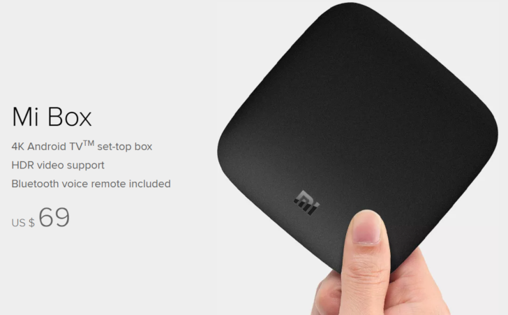 Xiaomi starts selling its Mi Box Android TV for $69