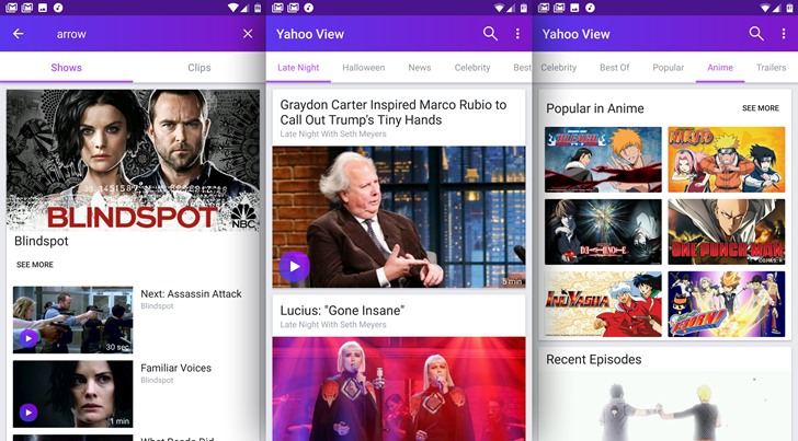 Yahoo View arrives on Android to offer up a slice of Hulu's