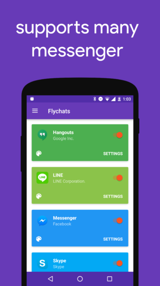 Flychat adds chat head-like bubbles to Hangouts, Telegram
