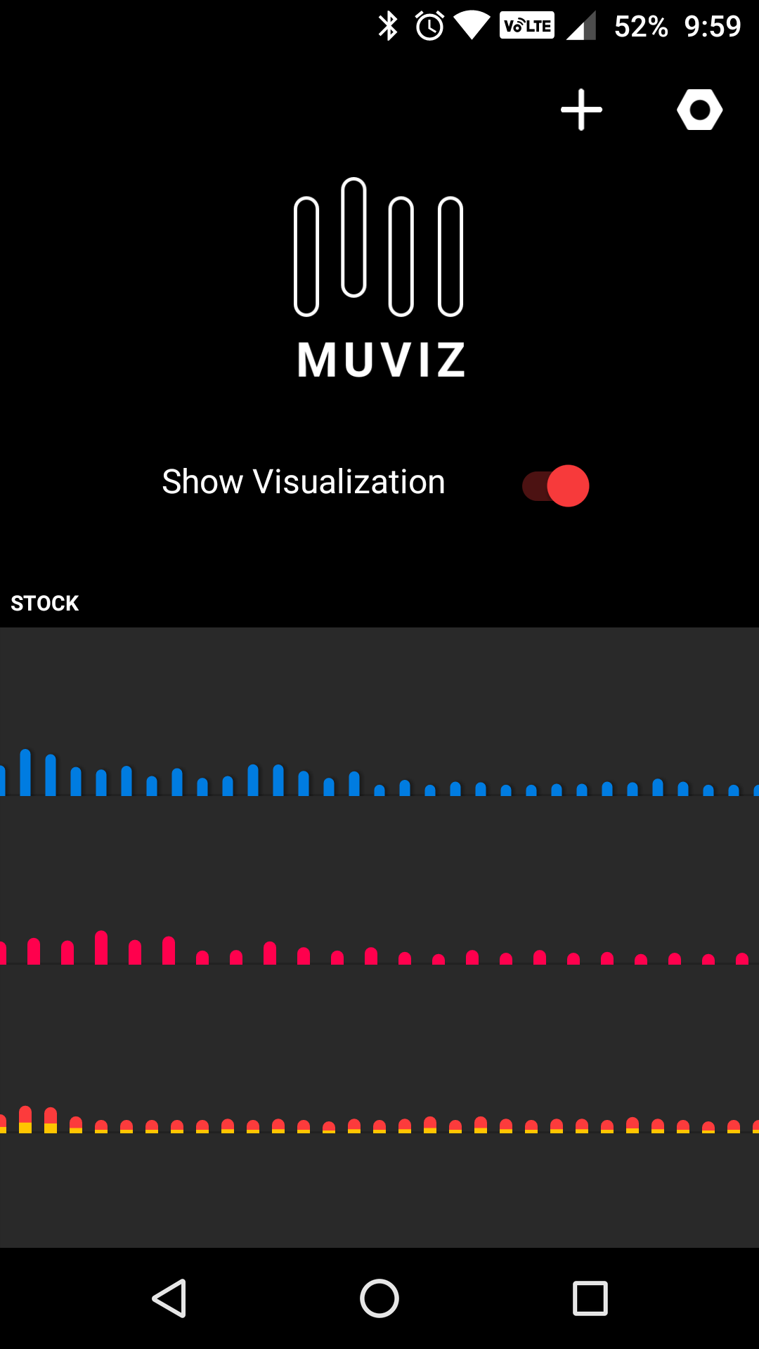 hands on with muviz nav bar audio visualizer really neat if you are