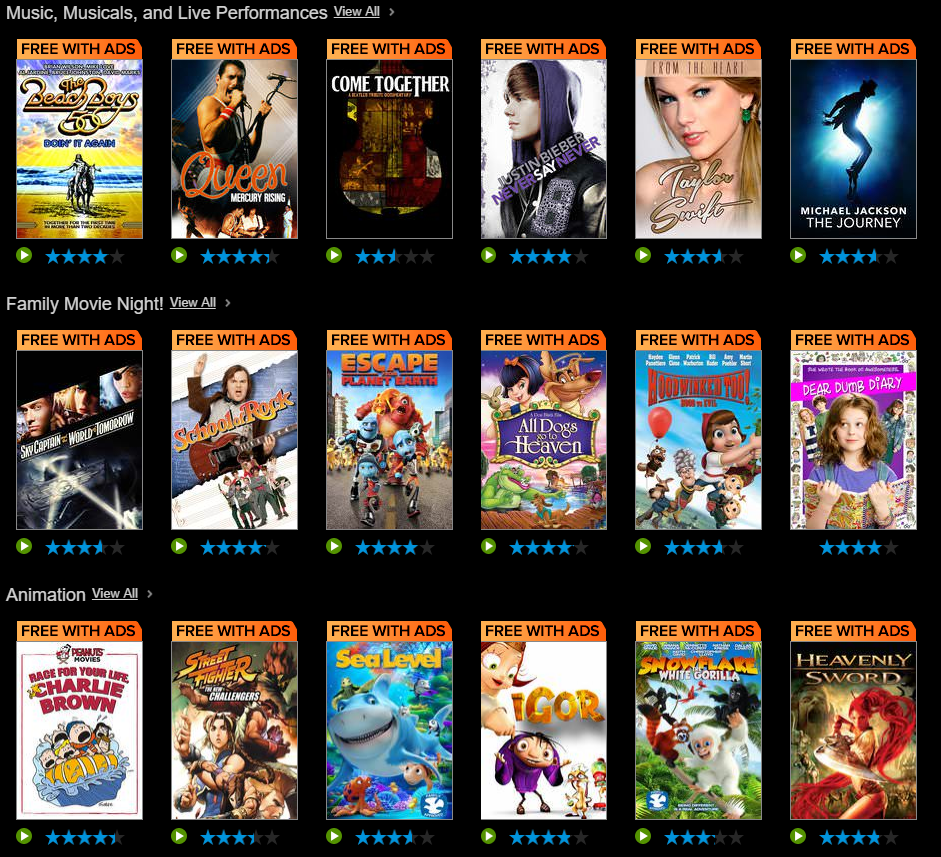 Movies: Vudu Introduces New Service, Vudu Movies On Us, With Free