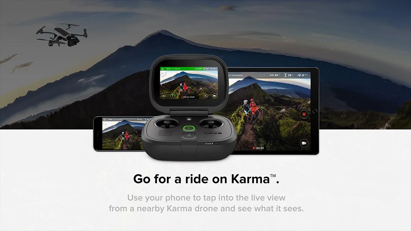 GoPro's Passenger app allows you to control a nearby Karma