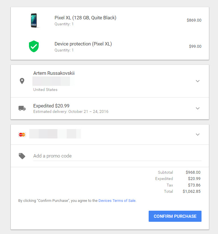Pixel And Pixel XL Preorders Are Live On The Google Store - What does invoice price mean verizon online store