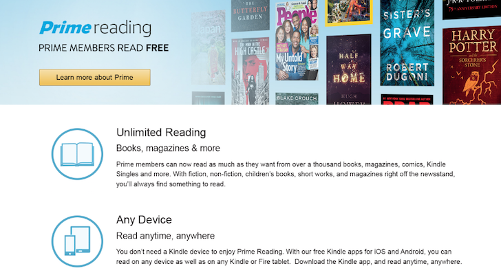 Amazon adds Reading benefit to its Prime membership to satisfy the