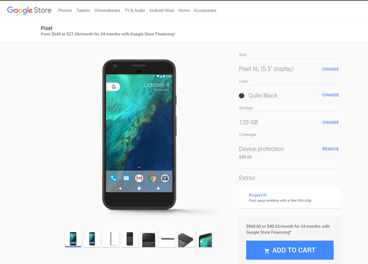 Google Store offers financing protection nexus2cee_store_thum