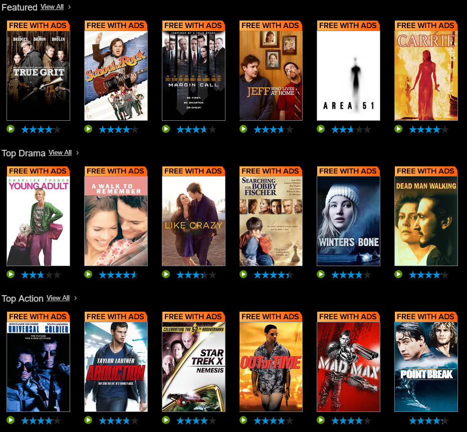 Vudu introduces new service, Vudu Movies On Us, with free films with