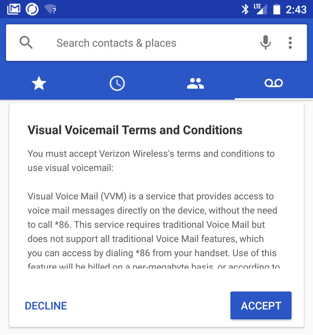 verizon wireless visual voicemail