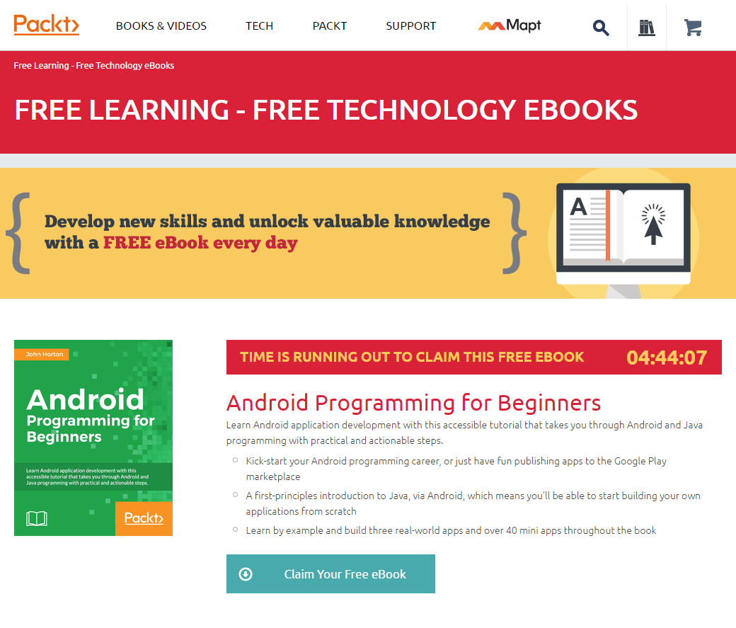 Deal alert start learning android development from scratch with source packt tags beginner development baditri Images