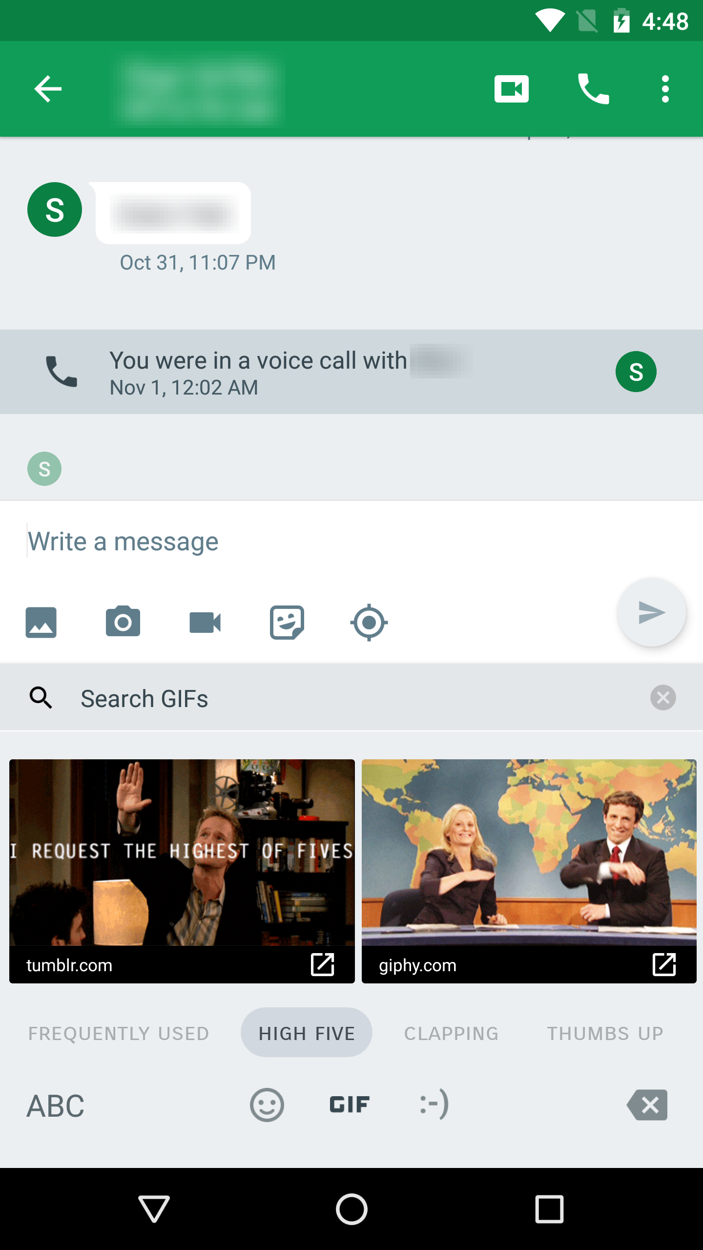Hangouts V15 Adds Gif Keyboard Support On Android 7 1 Apk Download
