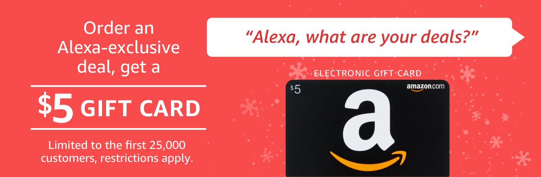 Deal Alert  Get an extra  5 Amazon gift card when you buy Alexa-exclusive  deals b176e0314c1a8