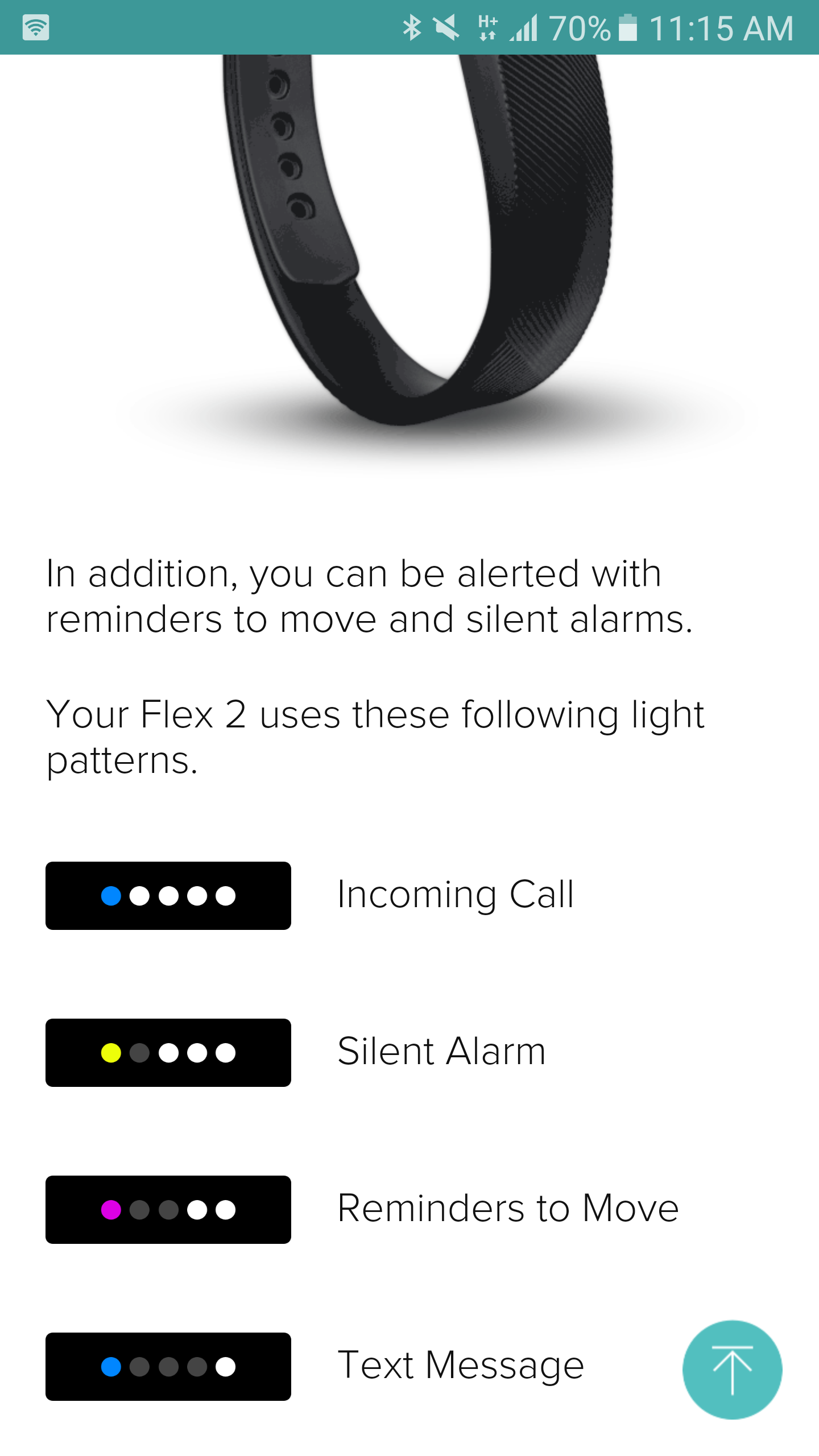 What Do The Lights On My Fitbit Flex Mean Fitbit Flex 2