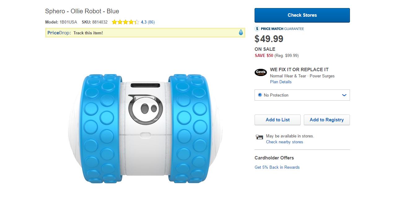 Deal Alert] Get the Sphero Ollie robot at Best Buy for $50 ($50 off)