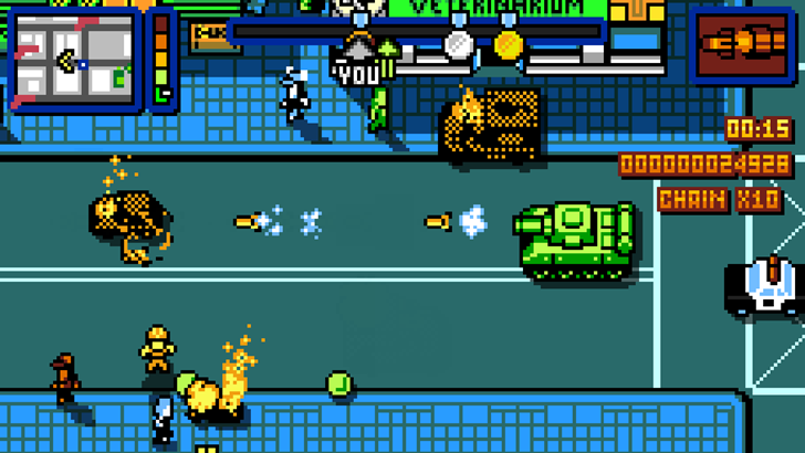 Steam Favorite Retro City Rampage Dx Blends Gta Crime Sprees With