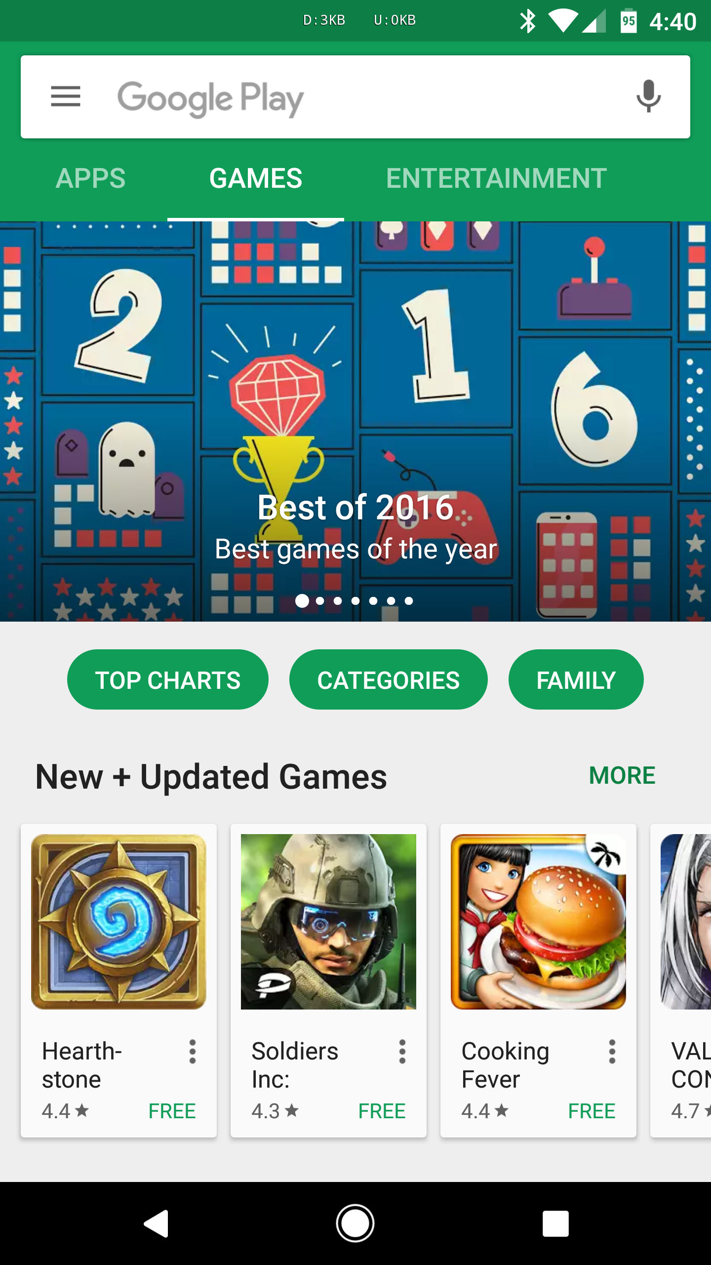 Google Play Finally Debuts New Categories of Games