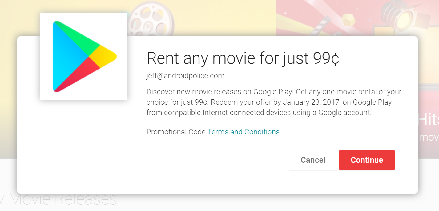 Deal alert score a movie rental for 099 and take 50 percent off long coupon code for you automatically no typin required youre welcome if your account is eligible for the offer youll see this message pop up fandeluxe Gallery