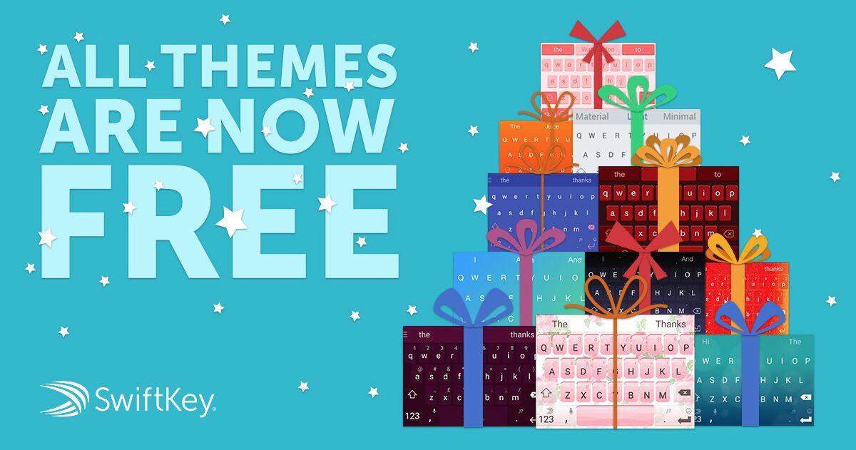 SwiftKey makes all of its premium keyboard themes free