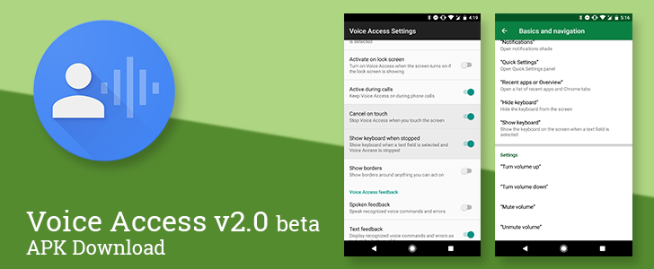 Voice Access 2 0 beta adds voice commands to toggle the
