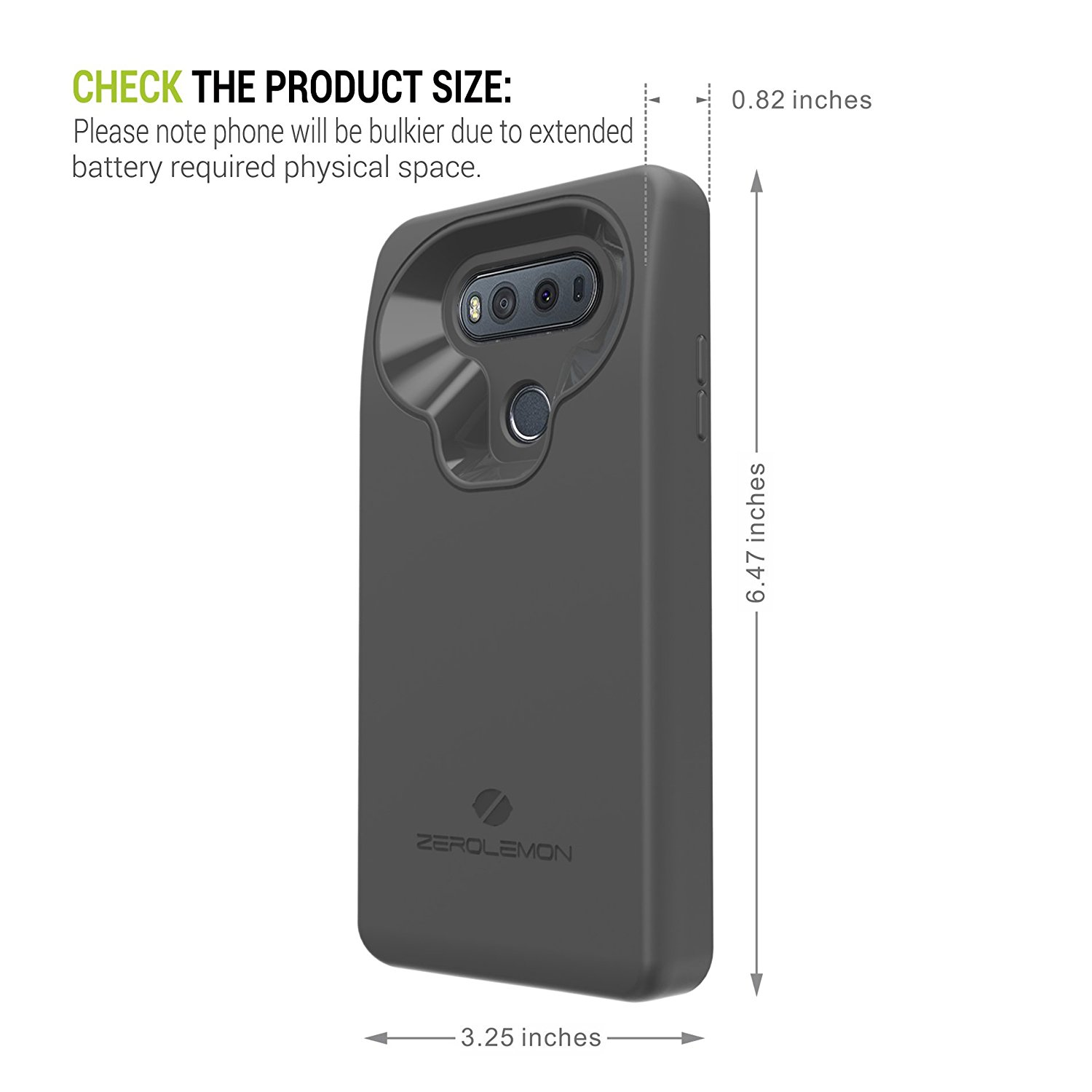 competitive price 9ac71 ed856 ZeroLemon's massive 10,000 mAh battery case for LG V20 is now ...