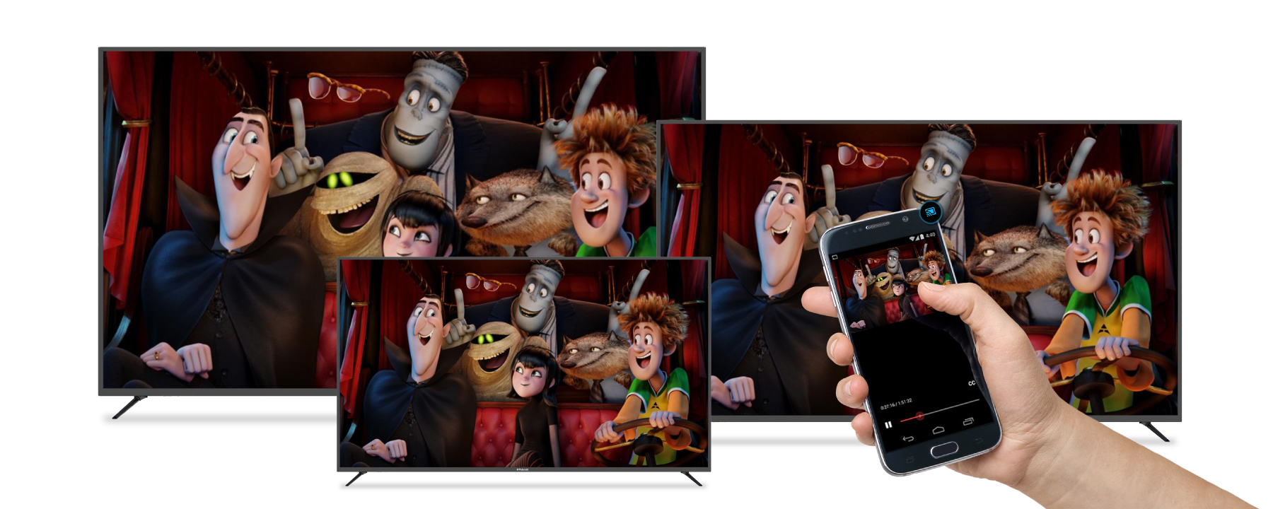 Polaroid shows off 4K TVs with built-in Chromecast at CES