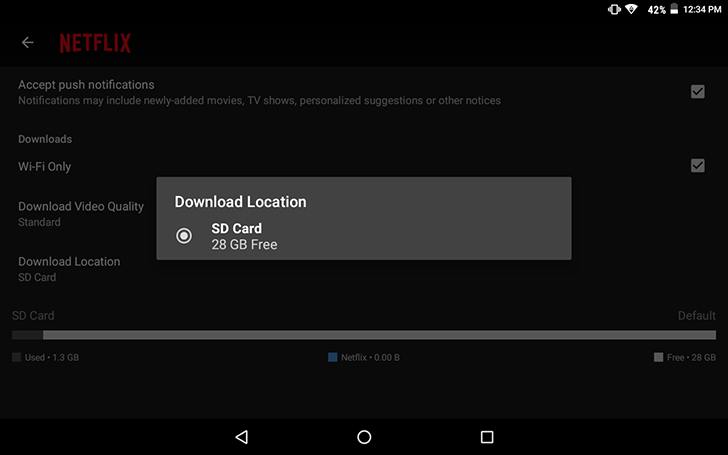 Netflix adds support for downloading content to SD cards