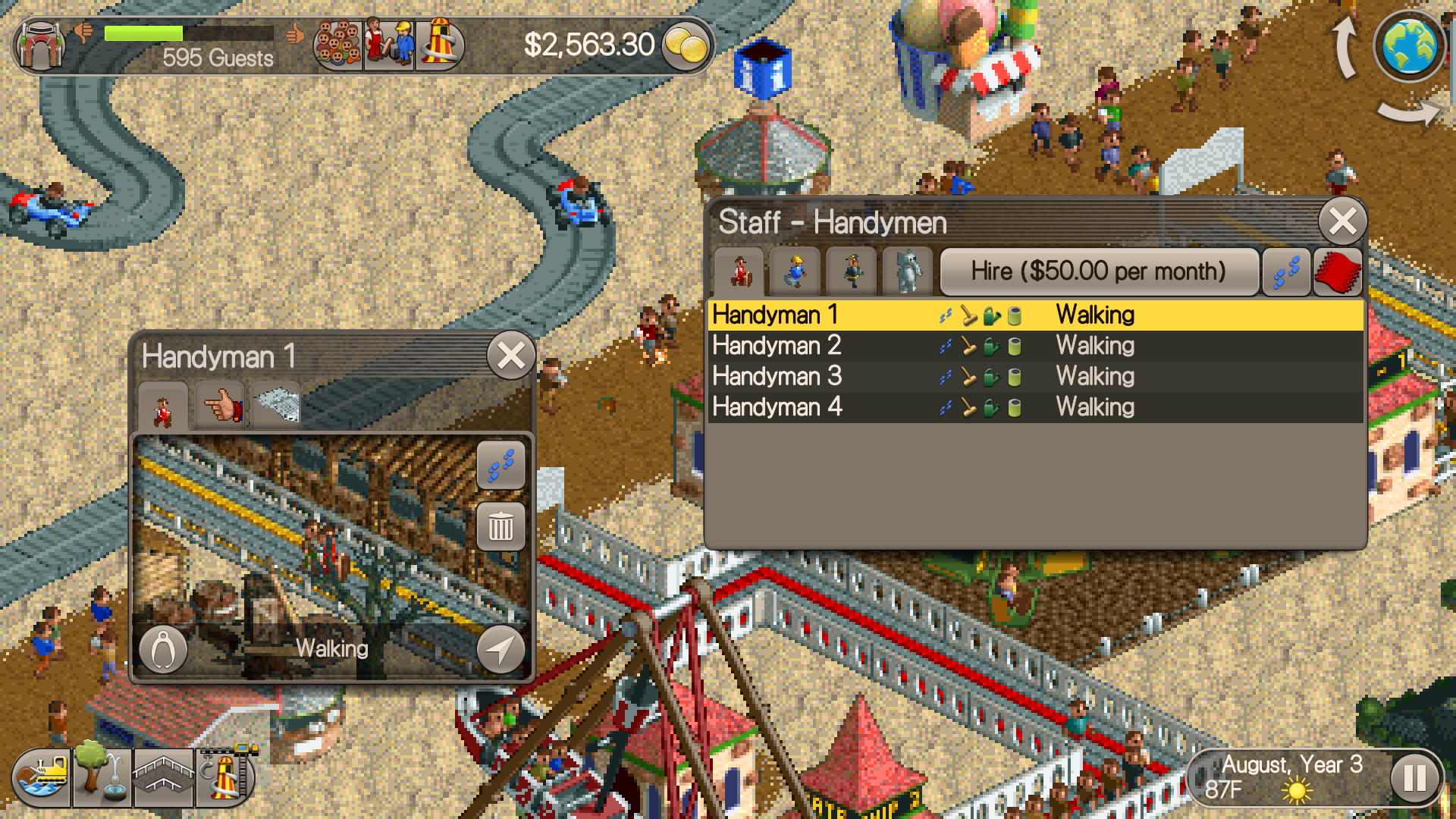 RollerCoaster Tycoon Classic review: A fun and faithful throwback
