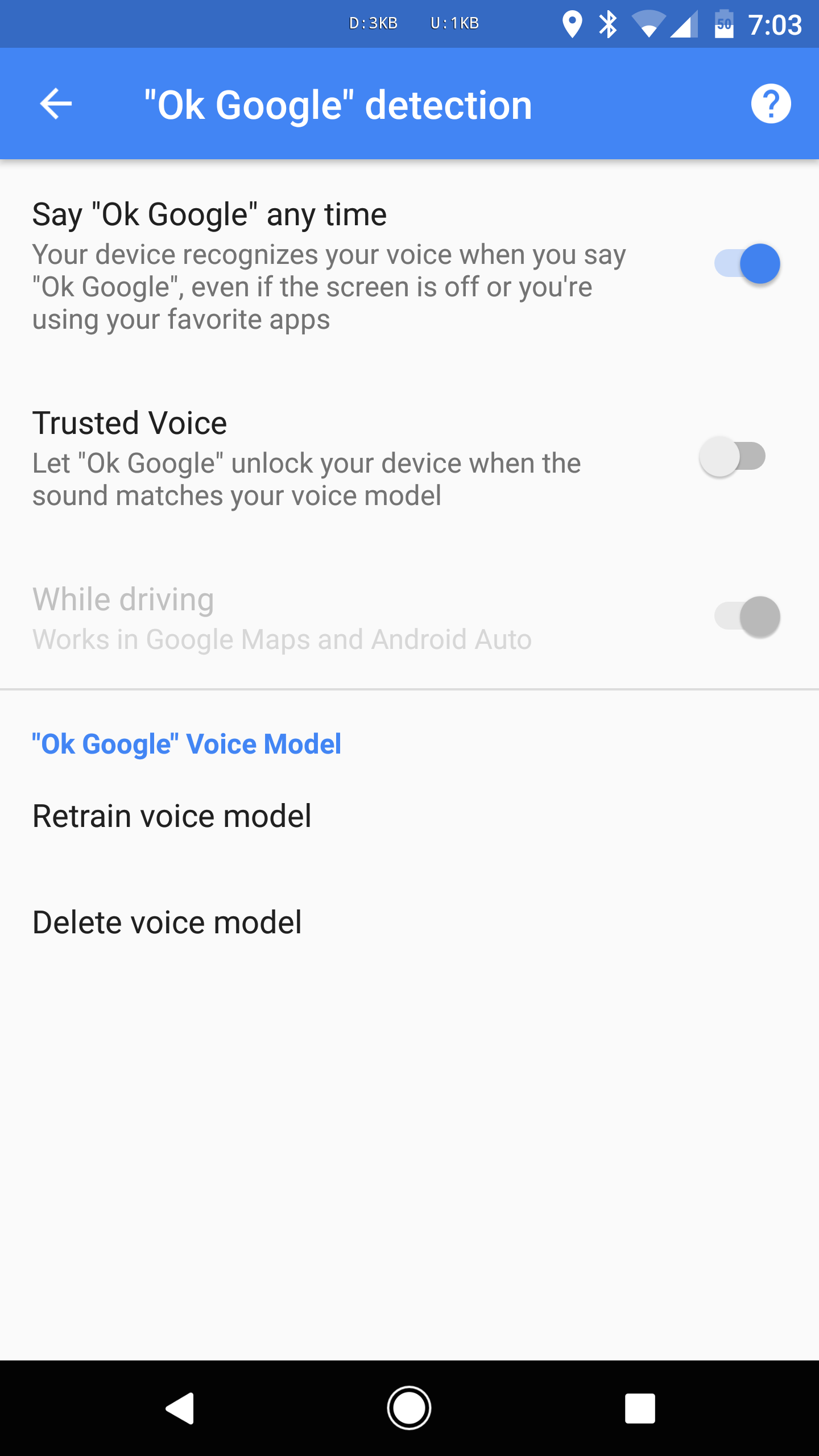 Google's 'Trusted Voice' feature keeps turning off for some