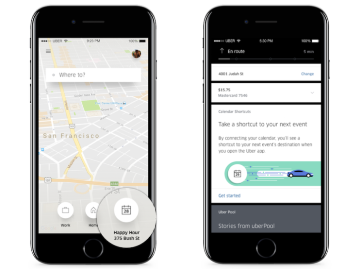 Uber Rolling Out Calendar Shortcuts to Save You Time
