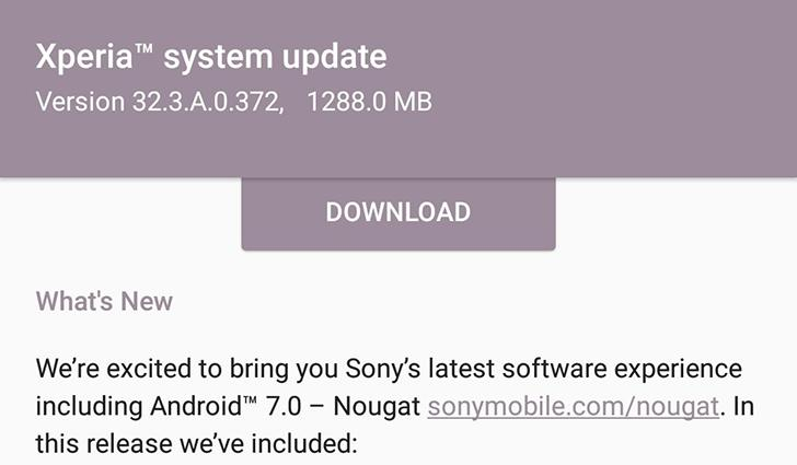 Update: OTA resuming] Sony begins rolling out Android 7 0