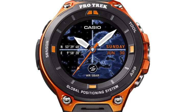 Casio's new outdoor smartwatch adds Global Positioning System, offline maps, and Android Wear 2.0