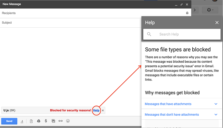 Gmail will block JavaScript file attachments starting next month