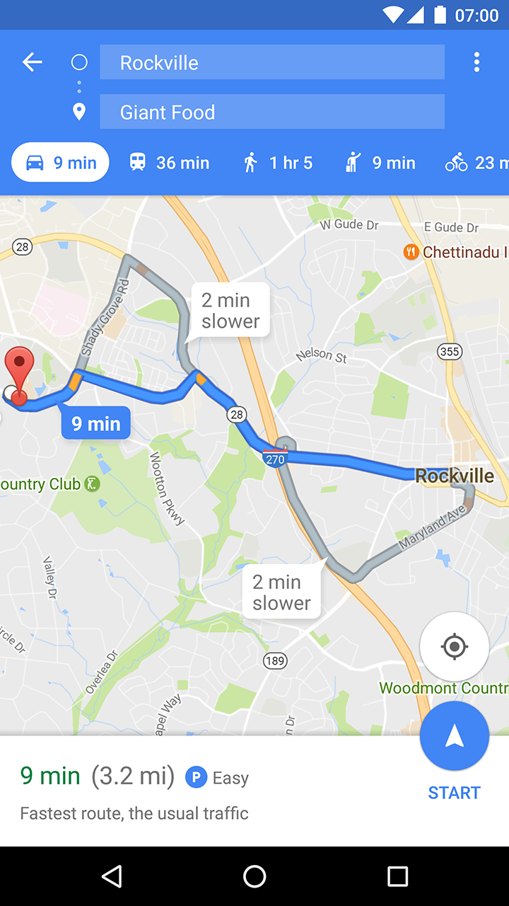 Updated Google Maps 944 shows parking availability