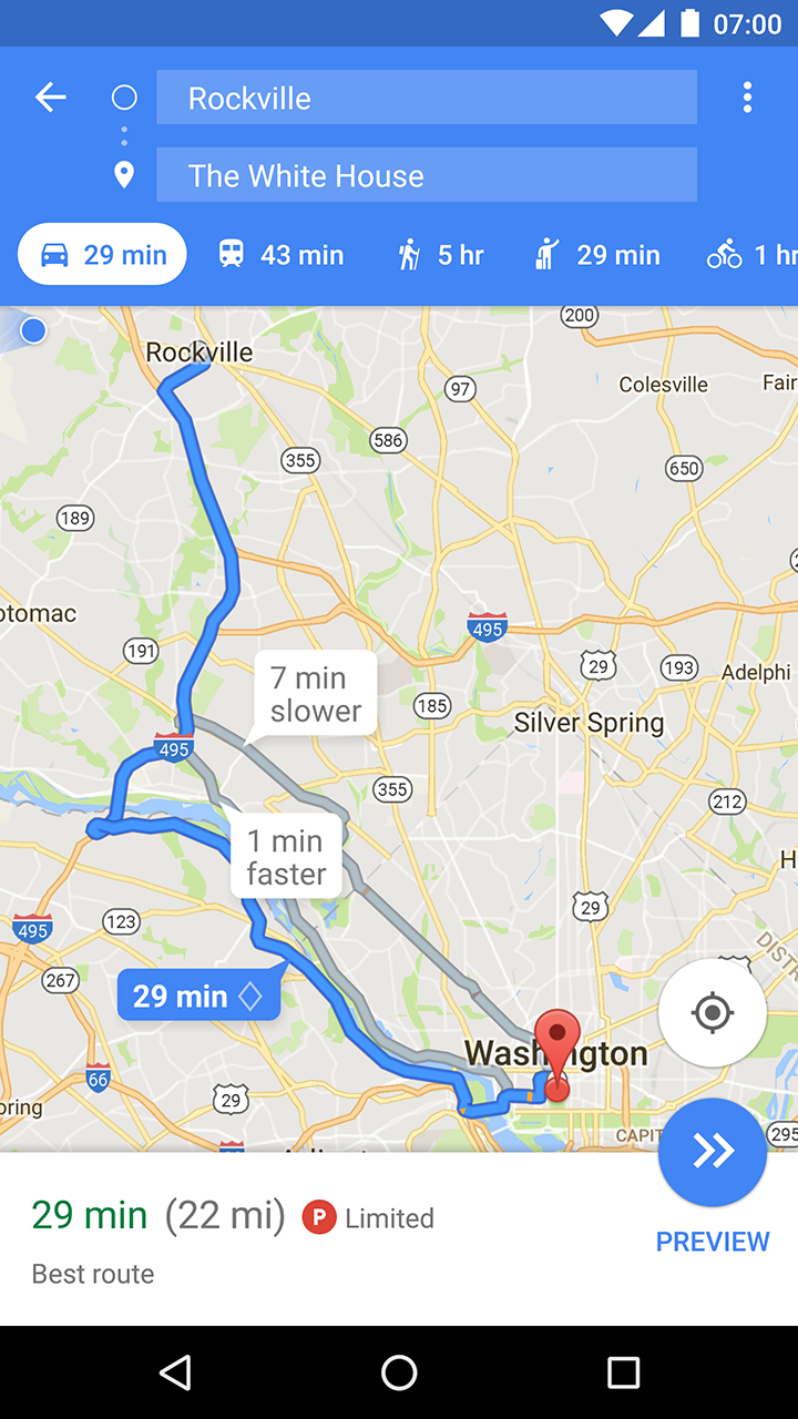 Updated Google Maps  Shows Parking Availability And - America new york google maps