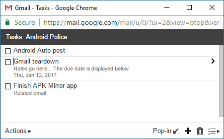 Gmail v7 1 prepares to add Inbox-style snoozing and tasks
