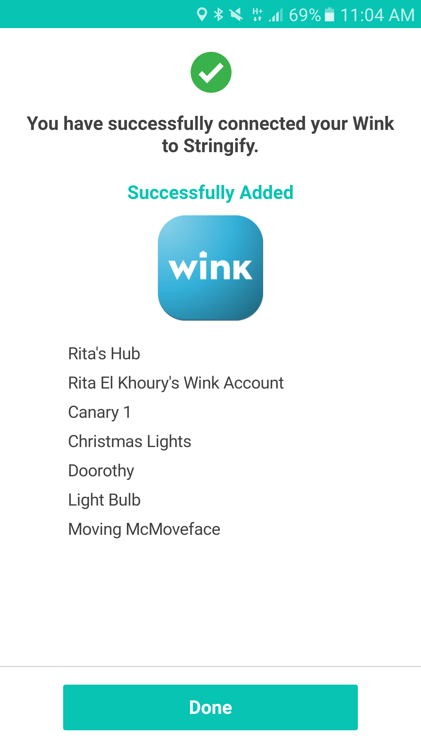 adding my wink as a thing brings all its connected gadgets and lets me create powerful flows
