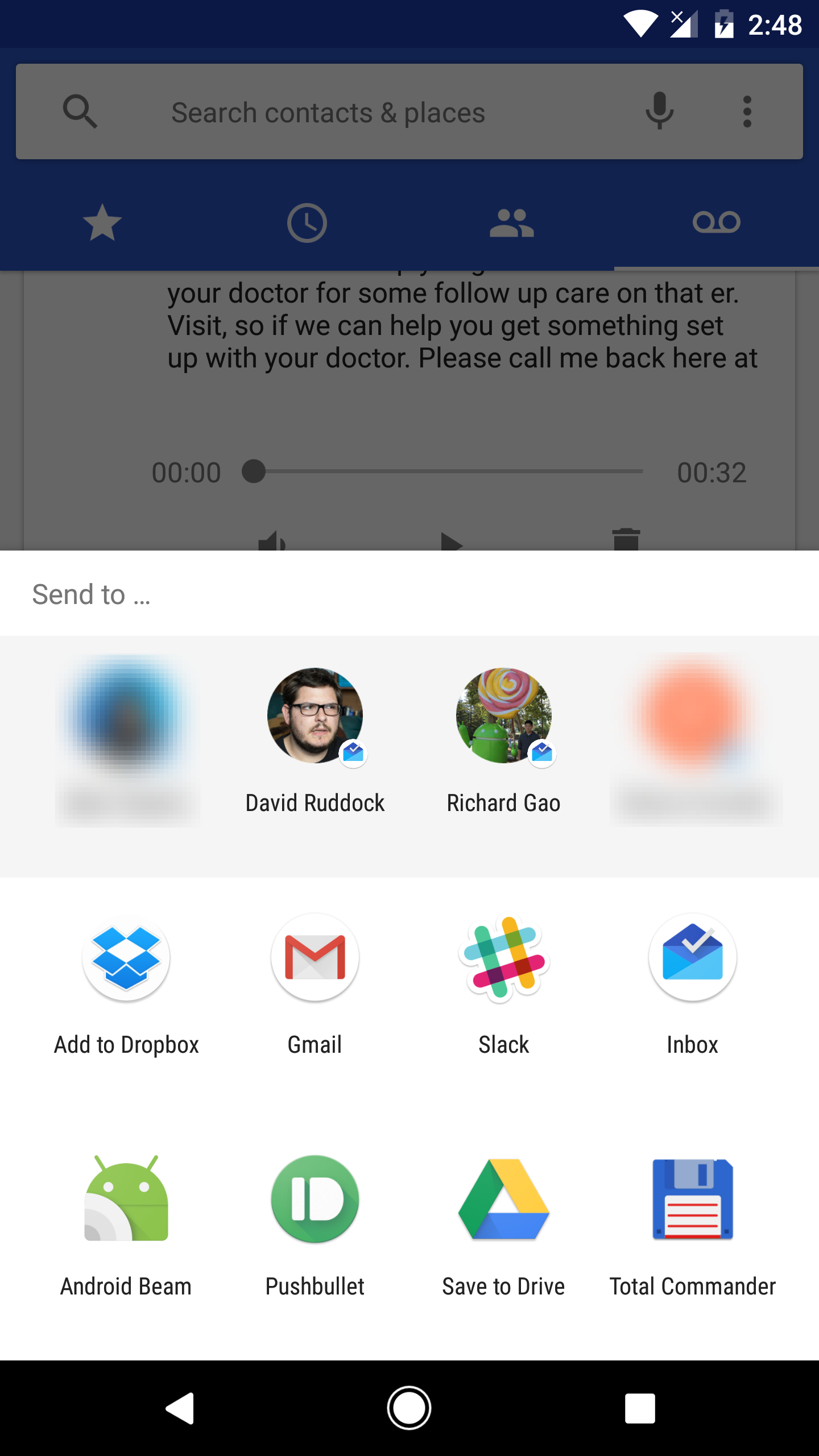 Google Phone V80 Makes Voicemail Shareable Fixes A Mismatched Icon
