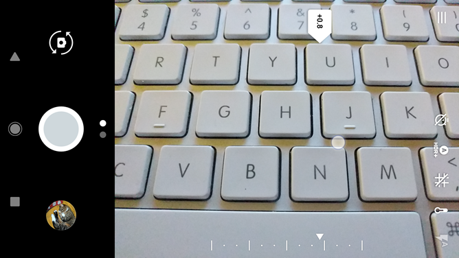 Google Camera v4.3 zoom bar